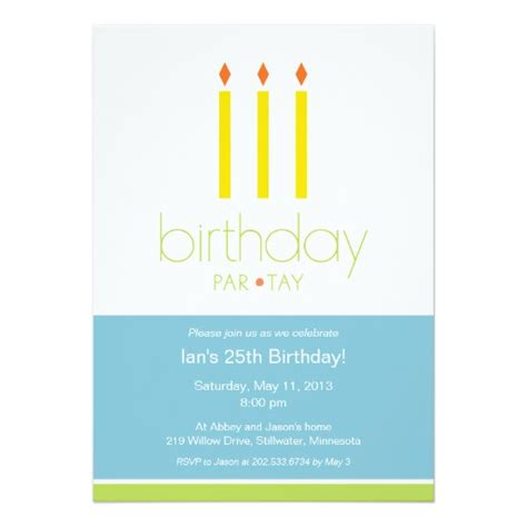 Candle Invitations Templates Candles Birthday Party Invitation Zazzle