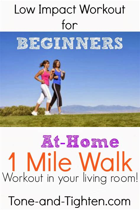 low impact beginners workout at home 1 mile walk