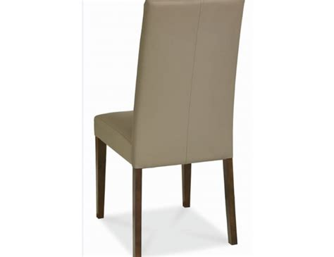 rayton taper back olive bonded leather dining chairs