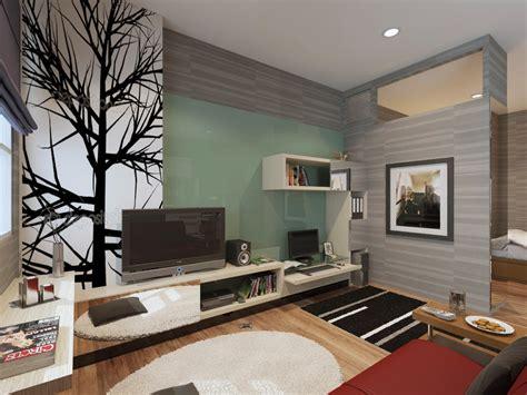 credenza minimalis desain rak tv credenza tv pada apartement plan design