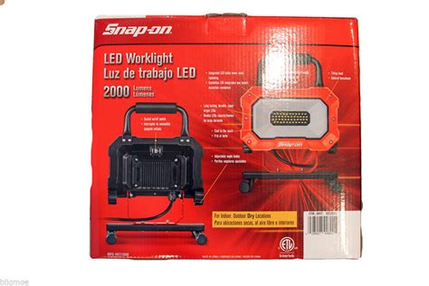 Set Of 4 Snap On Portable Work Light 2000 Lumens 46 Led