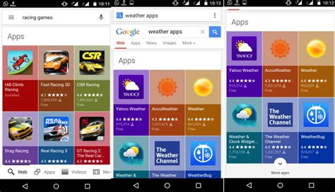 google layout app google rolls out a new colorful app search results layout