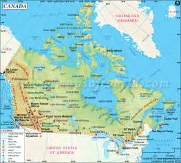 water bodies and islands map of canada canada claudine giovannoni