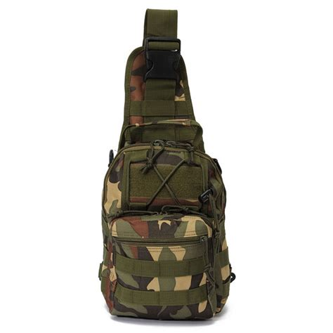 tactical utility sports hiking single shoulder sling chest