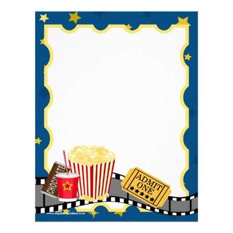Movie Theatre Stationary Boarders Pinterest Stationary Party Invitations And Free Printable Theater Invitation Template