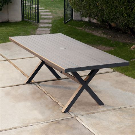 resin patio tables belham living all weather resin patio dining table