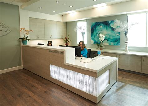 Dental Reception Desk Designs Reception Area At Smiles By Design Dentistry Http Www Pattersontoday Spring2015 Beyond