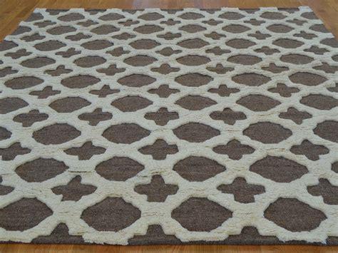 high pile wool rug 8 x 10 high and low pile moroccan berber handmade rug 100 wool sh20802 product 8 x