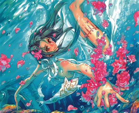 anime underwater underwater anime pictures to pin on pinsdaddy
