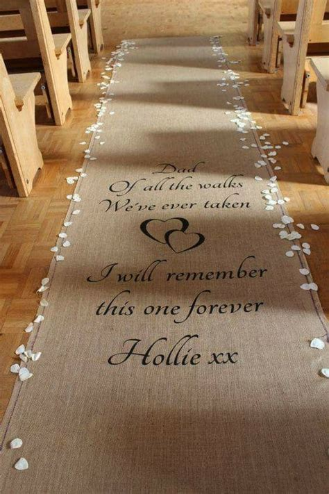 wedding aisle runner father daughter wedding ideas
