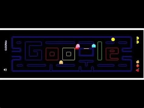 play pac doodle homepage may 21 2010 pacman 30th anniversary