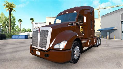 kenworth w700 ups skin for the kenworth tractor for truck simulator
