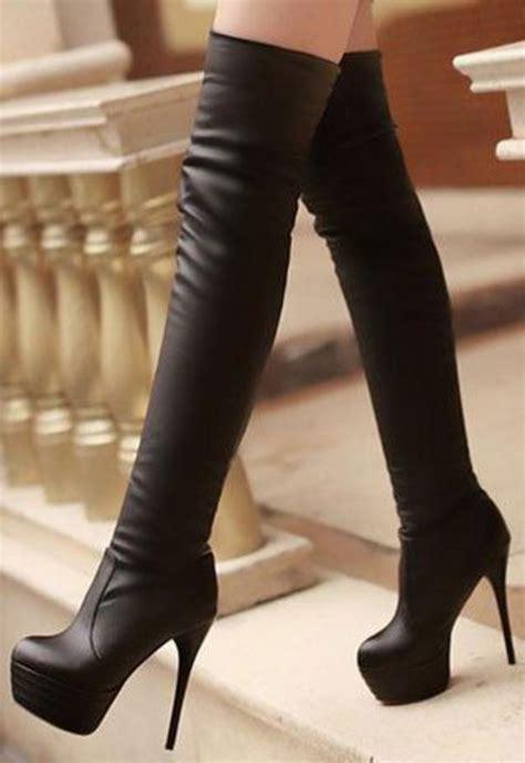 thigh high boots plus size legs new womens high stiletto heel knee thigh