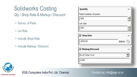 Solidworks Costing Solidworks Costing Template