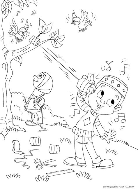 islamic coloring pages outside coloring page muslim boy coloring pages