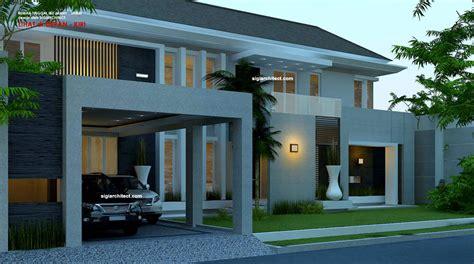 desain rumah hook desain rumah mewah 2 lantai luas 800 m2 dengan tata letak