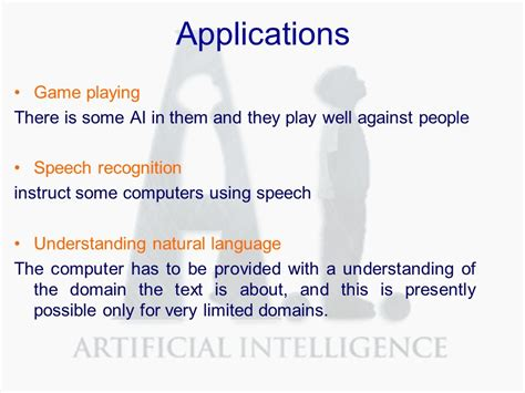 applications of pattern recognition in artificial intelligence applications of artificial intelligence ai engineering