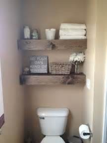 wood shelves bathroom diy 15 chunky wooden floating shelves toilets powder