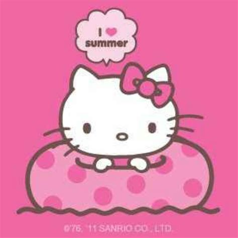 Hello Kitty Summer | first day of summer hello kitty summer pinterest