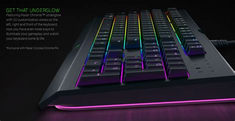 Razer Cynosa Pro Gaming razer cynosa chroma pro multi color rgb wired gaming keyboard