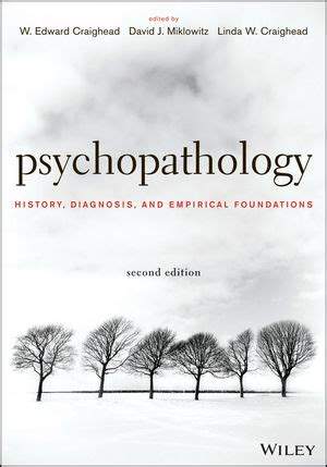 assessment and treatment second edition empirical and evidence based practices books wiley psychopathology history diagnosis and empirical