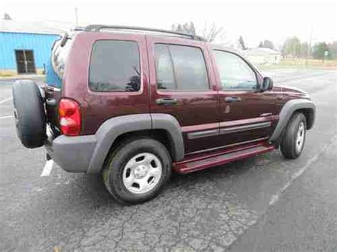 2004 Jeep Liberty 4x4 Sport Mpg Purchase Used 2004 Jeep Liberty Sport Utility 4x4 V 6 5
