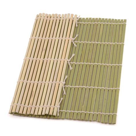 green bamboo sushi mat