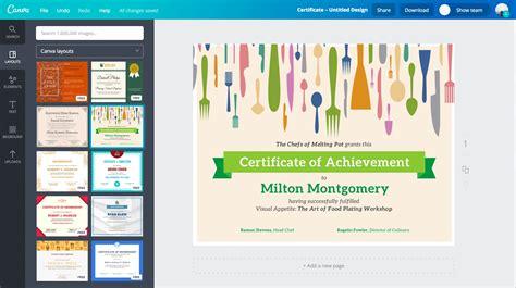 desain gambar online gratis membuat sertifikat online dengan 100 contoh desain canva