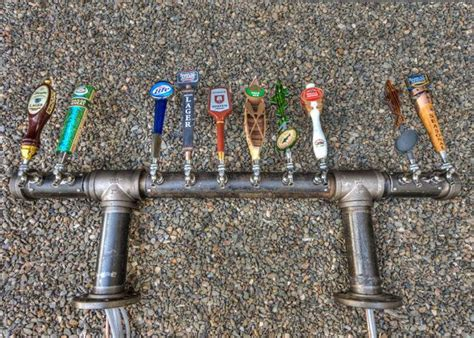 Home Bar Tap Unique Custom 10 Or 12 Tap Iron Pipe Tap Tower