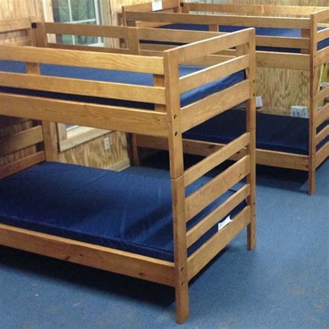 Bunk Beds With Ladder On The End Tough Stuff Ladder End Bunkbed For 39x75 Mattress