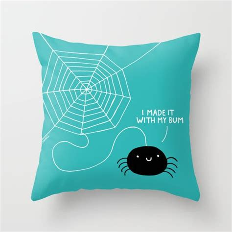 All Pillows by Spiders All The Throw Pillow By Gemma Correll