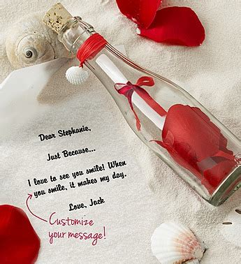 message in a bottle valentines gift gift message in a bottle