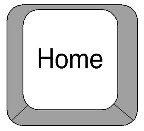 clipart computer keyboard home key