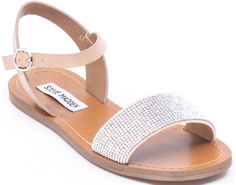 Steve Madden Rhinestone Sandals by Steve Madden Ruthie Rhinestone Flats Sandals Ebay