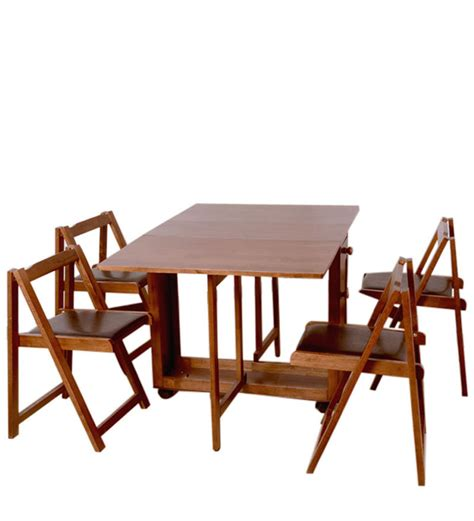 Compact Folding Dining Table Buy Compact Four Seater Folding Dining Set By Hometown Four Seater Dining Sets Dining