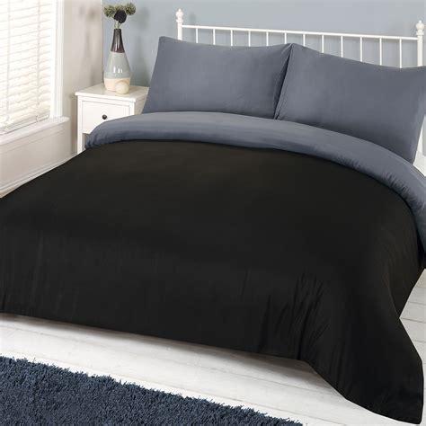 reversible bedding brentfords plain duvet cover with pillowcase reversible