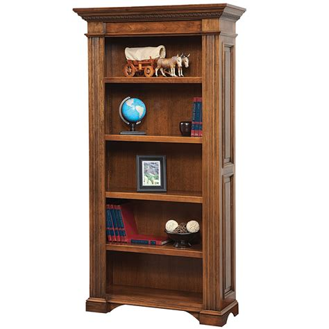 amish bookcases lincoln bookcase handcrafted office