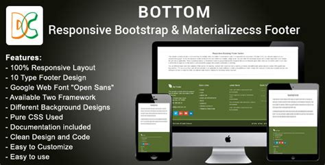 Bottom Responsive Html Bootstrap And Materializecss | bottom responsive html bootstrap and materializecss