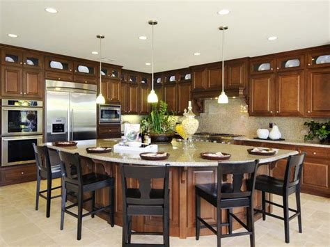eat at kitchen island eat in kitchen a fan shaped island provides a roomy space