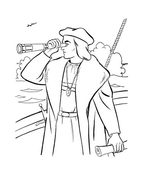 columbus day image az coloring pages