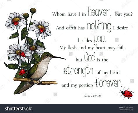 Wedding Bible Verses Psalms by Bible Verse Psalms Artwork Bird Flowers Stock Illustration