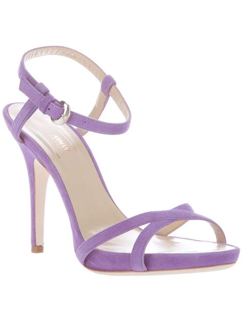 lavender high heel shoes lavender armani shoes lavender wedding inspiration