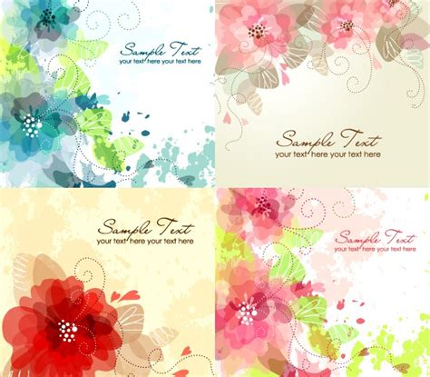 photoshop tutorial watercolor flower free watercolor flower vector graphics collection my