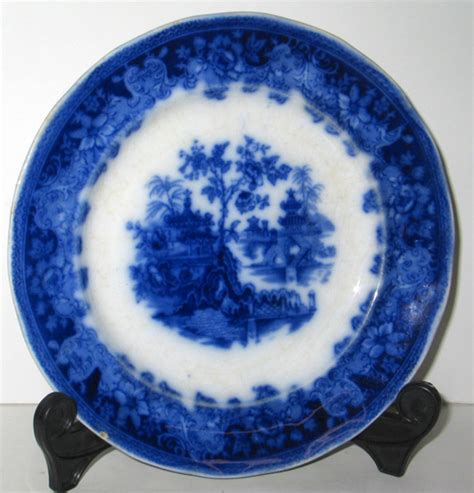 Flower Salad 3l antique flow blue wade co shanghai pattern staffordshire