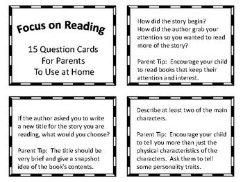 Reader Question Conrad by Reading Question Cards For Parents Freebie By Virginia