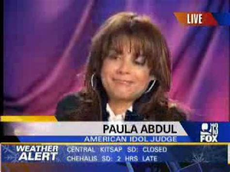 Paula Abdul Explains Interviews by Paula Abdul What Is She Smokin