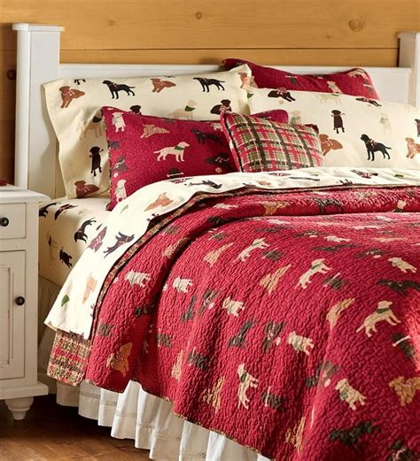 quilted bedding sets quilted labrador plaid bedding set bed plow hearth