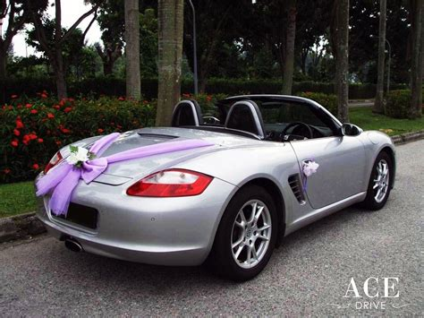 purple porsche boxster porsche boxster convertible wedding car decorations