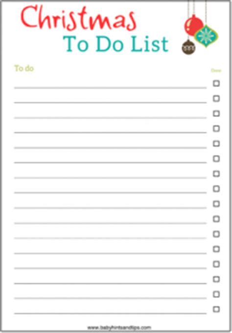 free printable holiday to do list christmas gift list printable