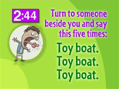 toy boat tongue twister tongue twister countdown kidzmatter worshiphouse media